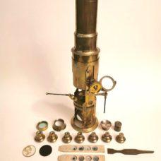 19th century unsigned english drum type  microscope century unsigned english drum type  microscope