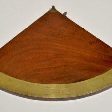18th century English mahogany and brass quadrant.