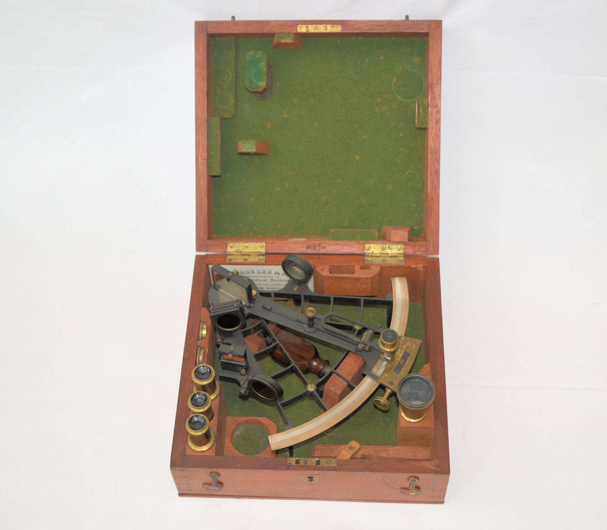 Ladder frame sextant. The former property of Admiral Sir Charles John Briggs, K.C.B.