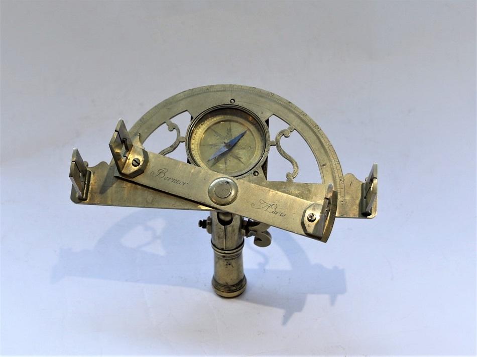 A small brass graphometer by Bernier, circa 1760