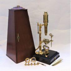 A Cuff microscope by John Cuff himself, circa 1745-50