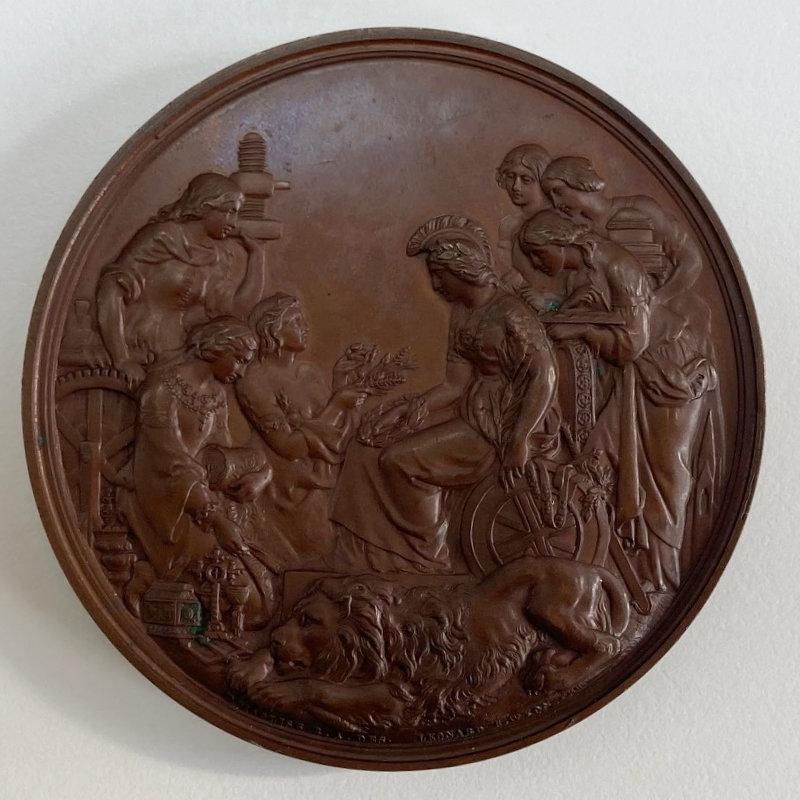 The 1862 International Exhibition Prize Medal Awarded to De Grave Short & Fanner London