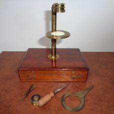 Botanical travel microscope, first part 19th century.
